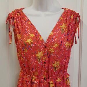 GAP Floral Tiered Midi Dress